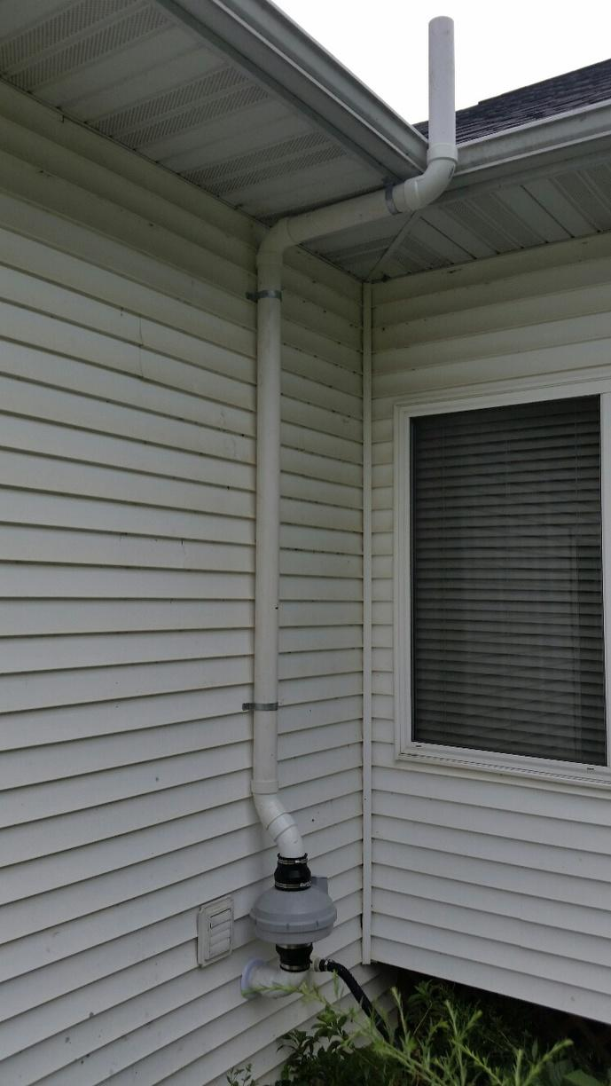 The radon mitigation system is small and non-invasive. If desired, a cover can be placed over the system, making it look like a natural part of the home.
