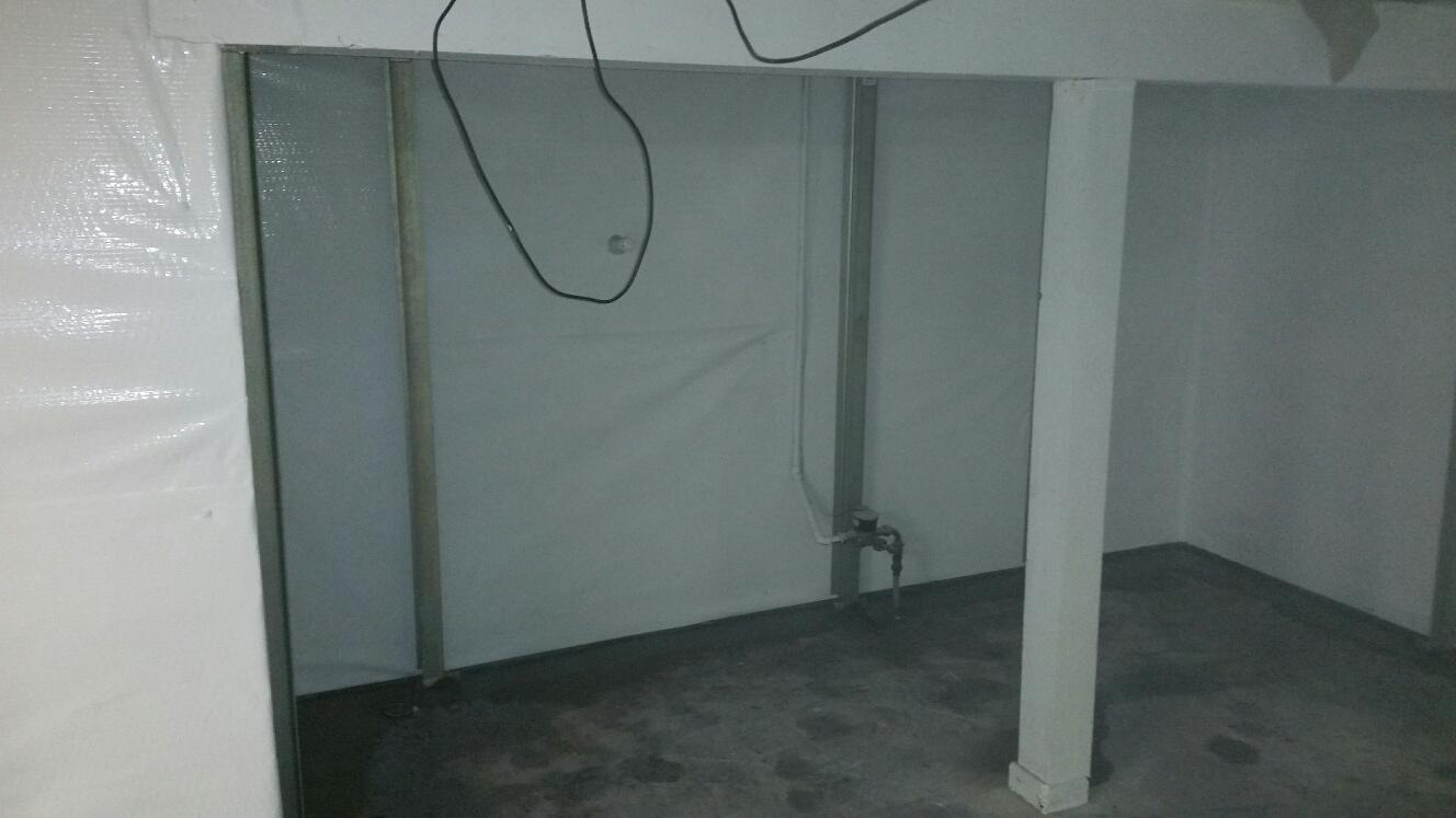 While the CleanSpace Wall guards against water intrusion, the PowerBraces stabilize the wall, and over time, work on potentially correcting the bow in the wall.