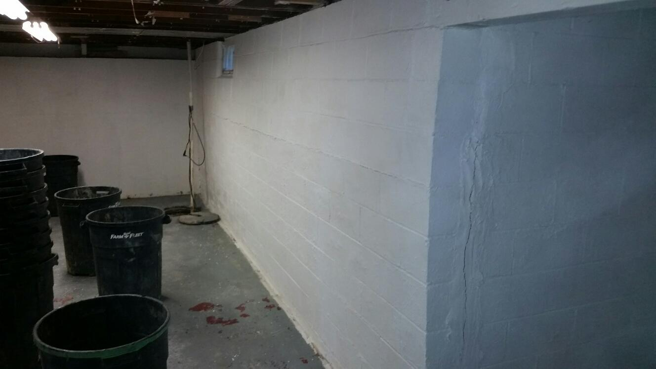 Sarah called MidAmerica Basement Systems with both water and wall concerns. The experts addressed both issues. The CleanSpace Wall was installed before the PowerBraces were added to stabilize the wall.