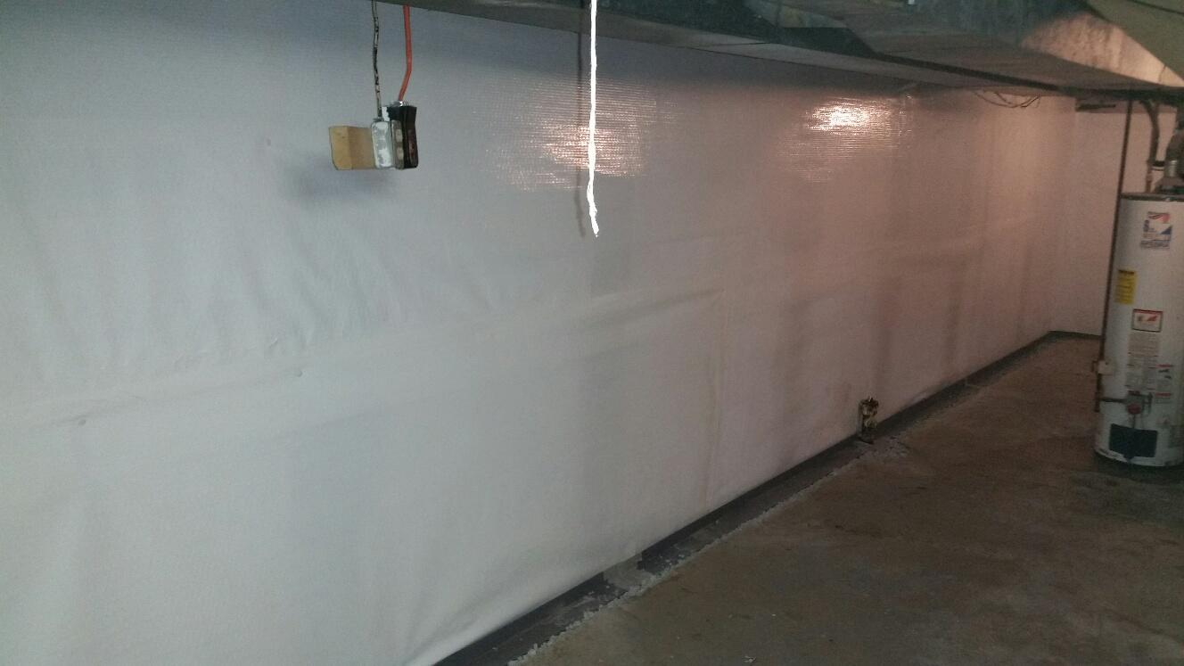 The waterproofed basement will stay dry for many years.