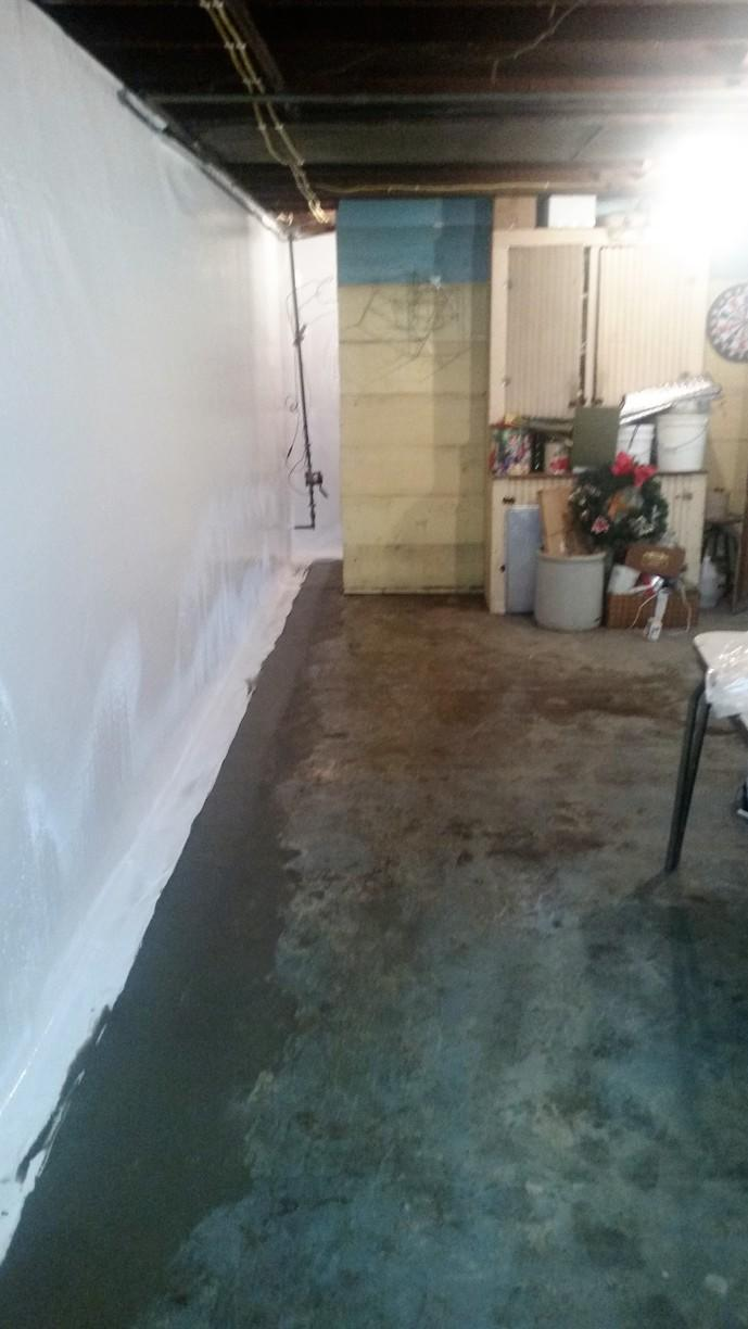 The CleanSpace wall and WaterGuard products are installed and keeping water from the basement. It looks amazing!