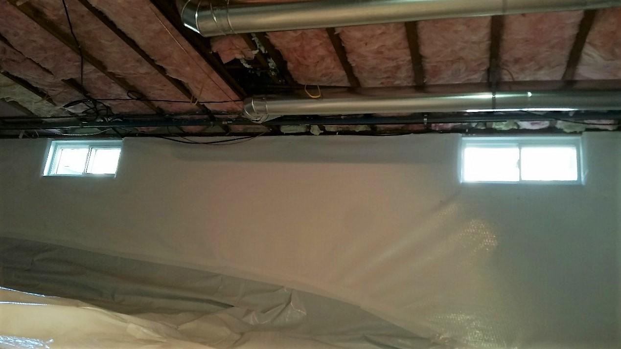 The bright, white, and now dry crawlspace is exactly what Al ordered.