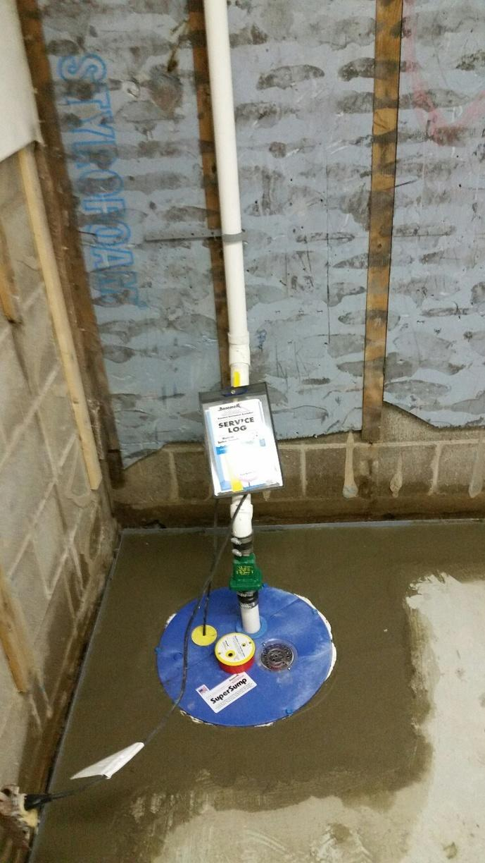The SuperSump Sump Pump has a powerful pump that helps keep the basement dry.