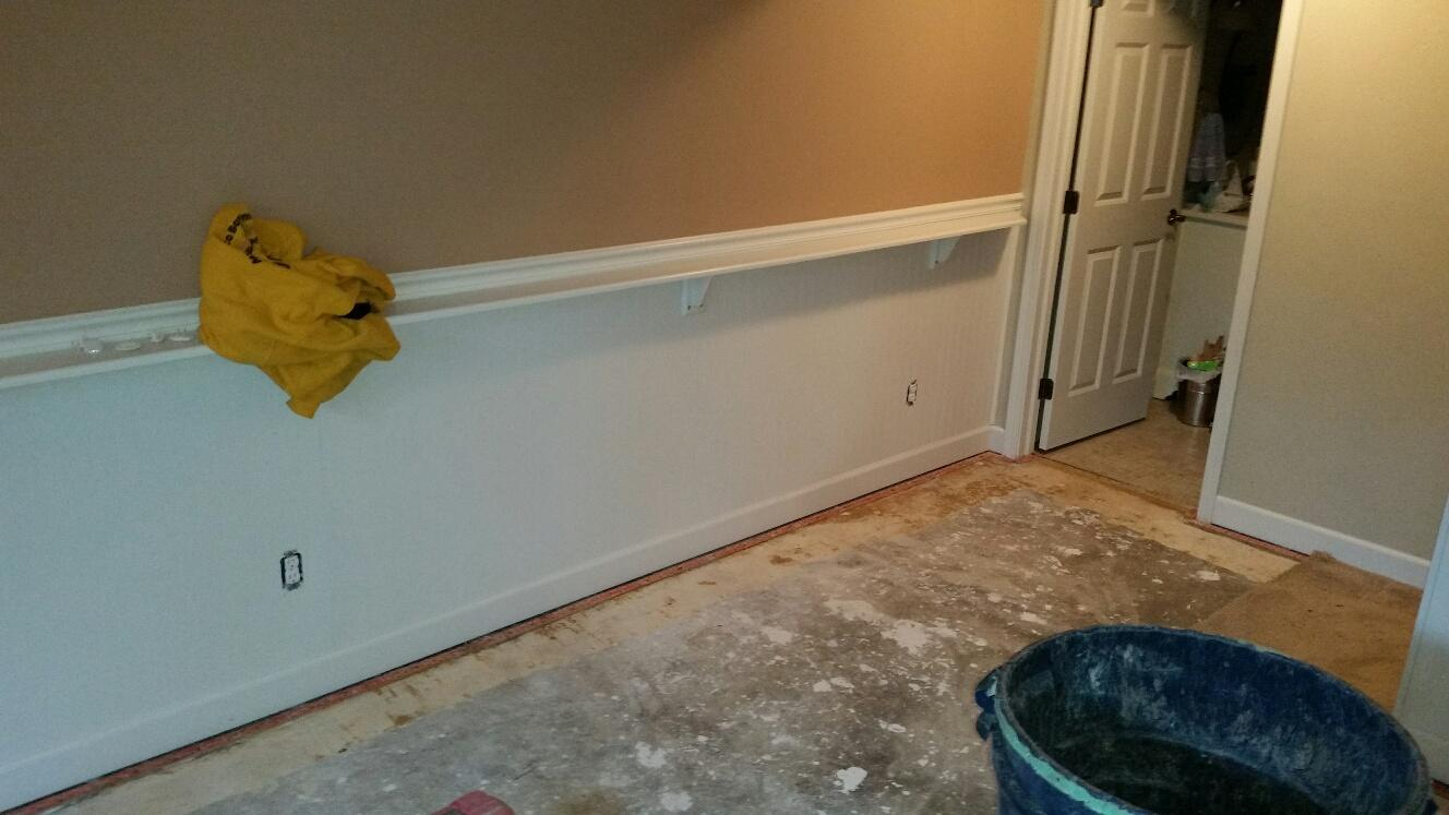 The finished basement must undergo a transformation for waterproofing.
