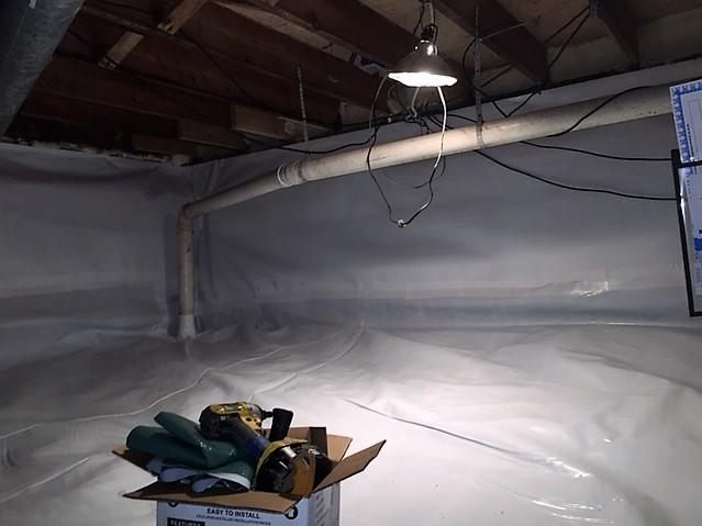 After CleanSpace, the space is bright white and dry.