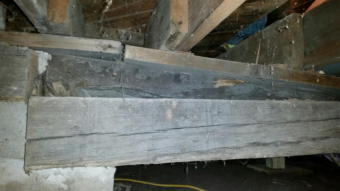 The home, built in the 1940s, needs help reinforcing the load bearing joists.