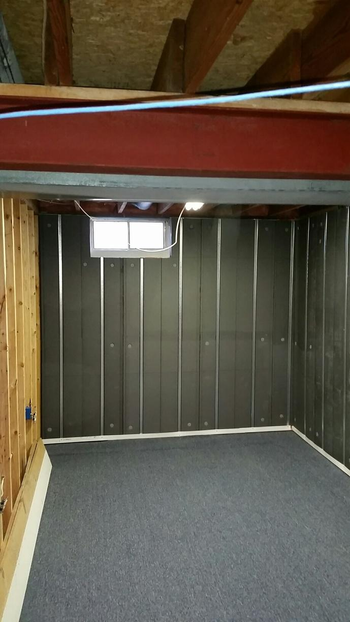 The exposed Basement to Beautiful panels are an upgrade to traditional foam insulation - aesthetically and functionally.