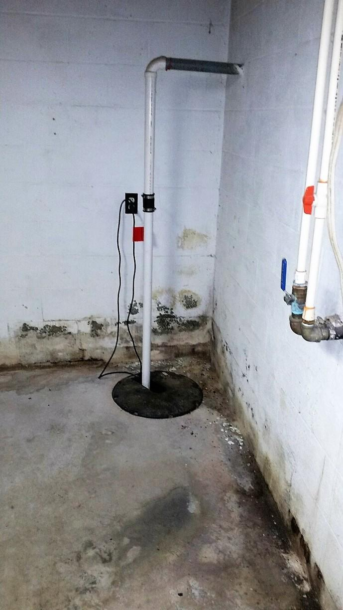 This sump pump works great - but only when the water actually gets into the sump tank.