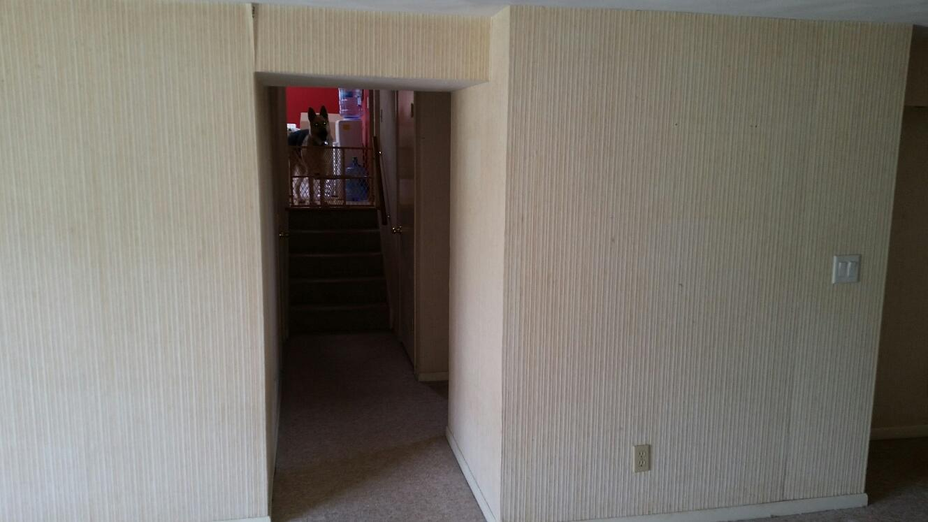 Wallpaper can easily be ruined if a basement becomes wet from a leaking basement.