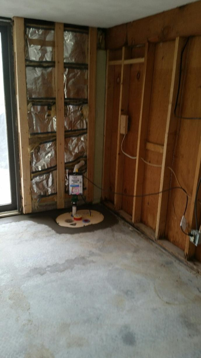 TripleSafe Sump is installed to protect water for pooling, and keeping basement dry.