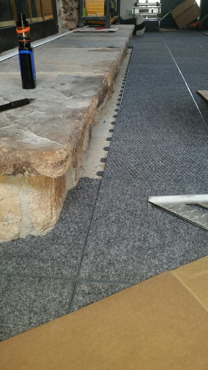ThermalDry Flooring is water resistant, allowing for easy drying if basement floods.