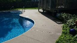 Uneven pool deck will increase hazardous tripping