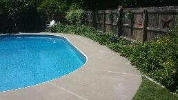 Experts leveled the pool deck with PolyLevel
