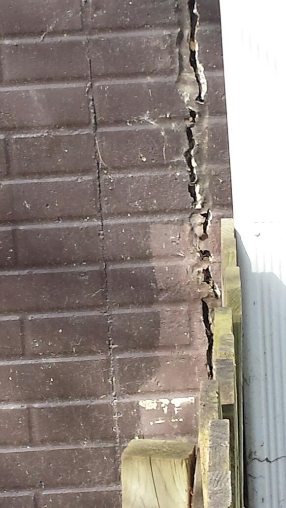 Foundation cracks are a good indication of settlement.