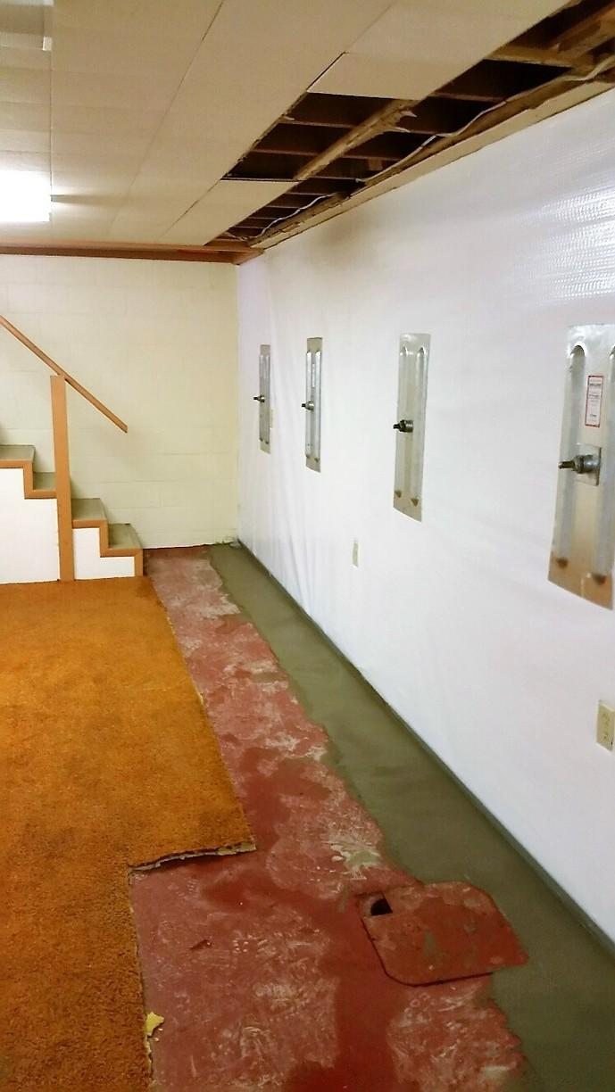 WaterGuard is sealed, allowing CleanSpace and WaterGuard to protect the basement from moisture.