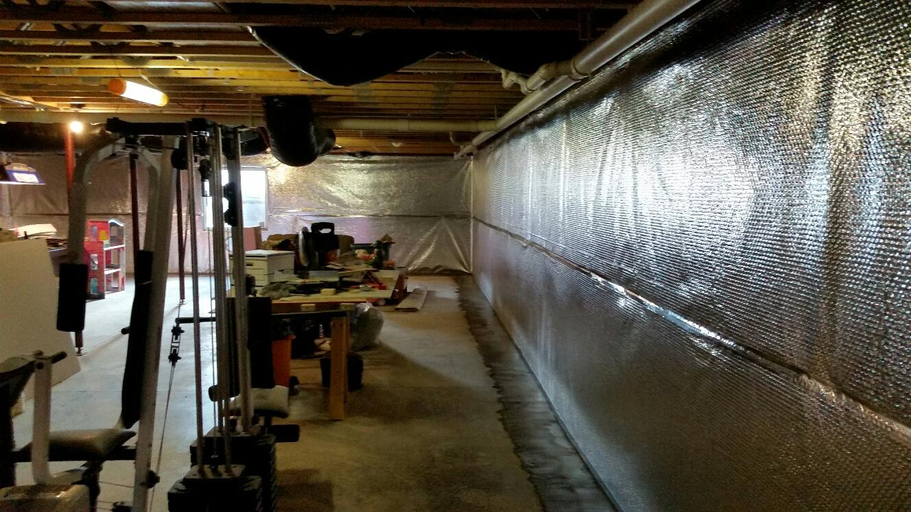 WaterGuard and ThermalDry Wall are installed in basement.
