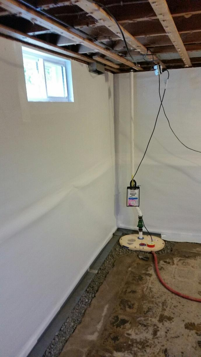 A TripleSafe sump is installed to accommodate the WaterGuard and CleanSpace systems.