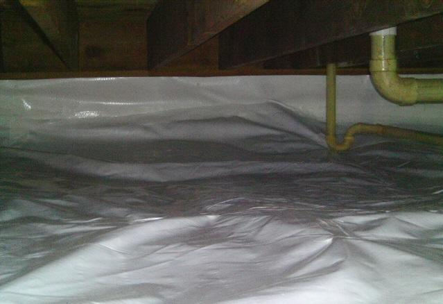 CleanSpace is installed to the top of the floor joist system to provide proper seals from moisture.