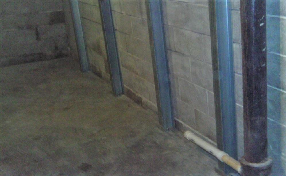 PowerBraces are strategically placed along the foundation wall to provide the appropriate pressure needed.