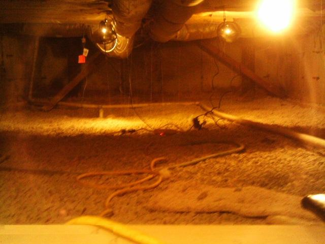 Untreated crawlspace was causing more ground water to enter the basement sump system.