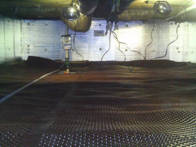 SilverGlo was installed along the walls, providing the proper insulation for the crawlspace.