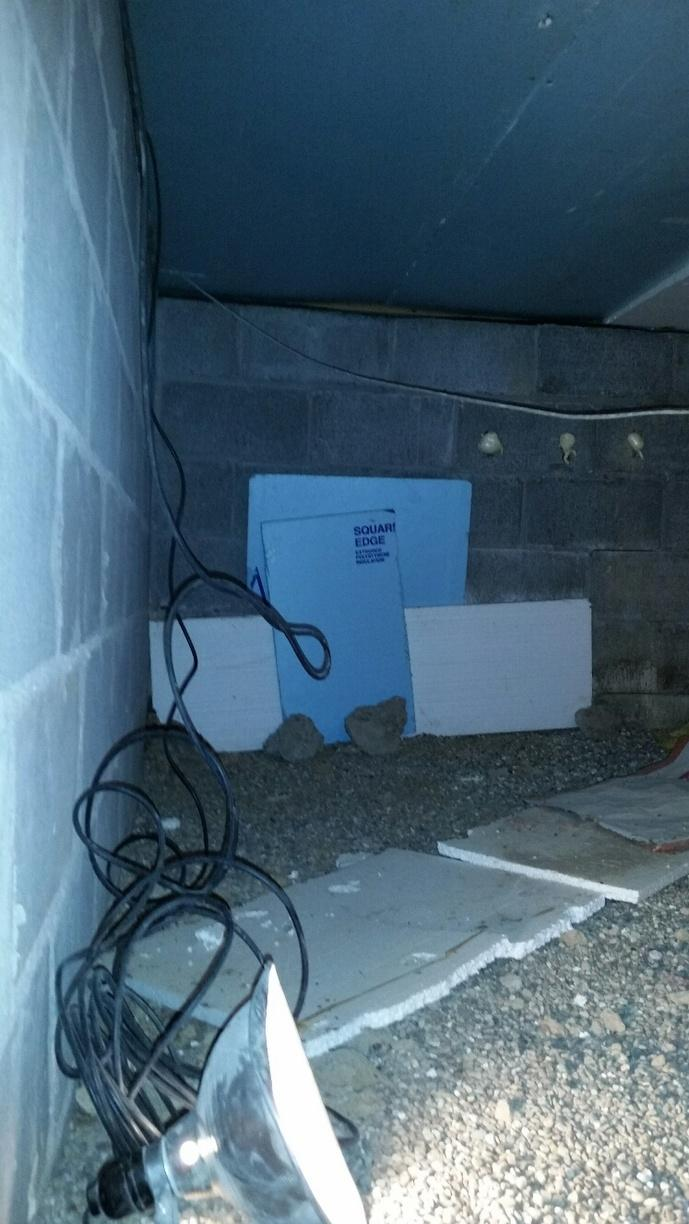 Cheap foam panels were placed over the vent covers, not addressing the moisture problem.