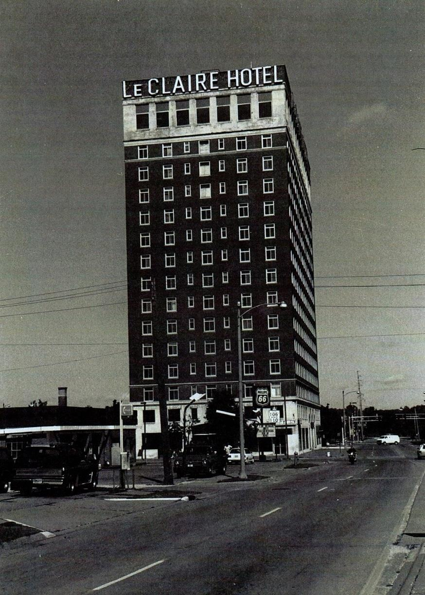 LeClaire Hotel right before becoming a national historic place. *photo credit: Hugh Davidson. September 16, 1993.