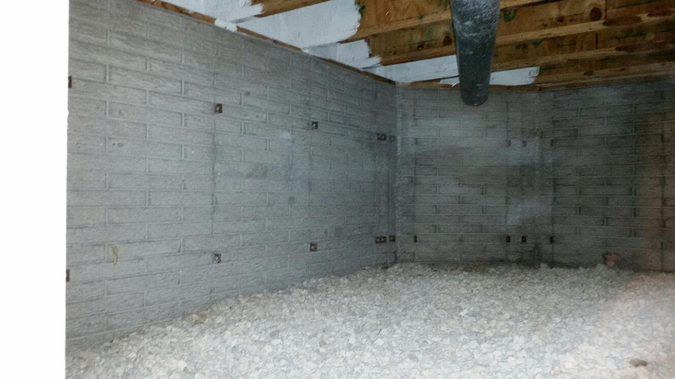 Untreated crawlspace allows for moisture to damage belongings and structure of the home.