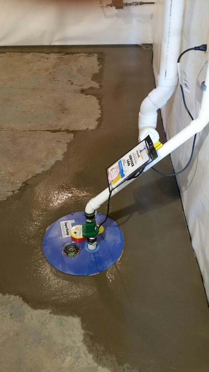 The SuperSump is ready to discharge any moisture or water that enters the basement.