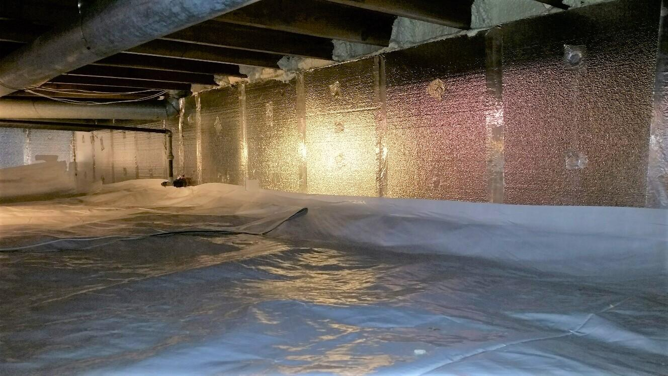 CleanSpace and SilverGlo provide a moisture barrier and insulated crawlspace.