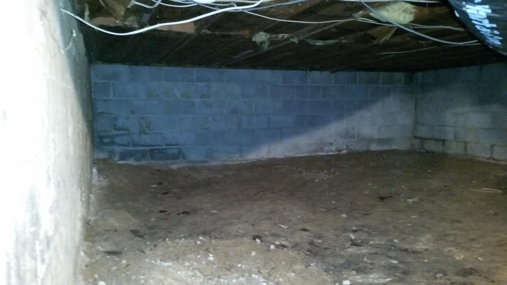 Exposed dirt allows moisture to enter the crawlspace, leaving not only the crawlspace but the rest of the home damp.