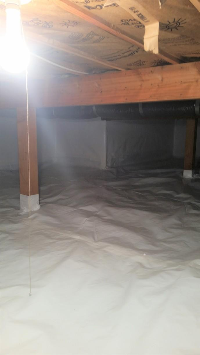 Total CleanSpace encapsulation offers a dry, clean crawlspace.