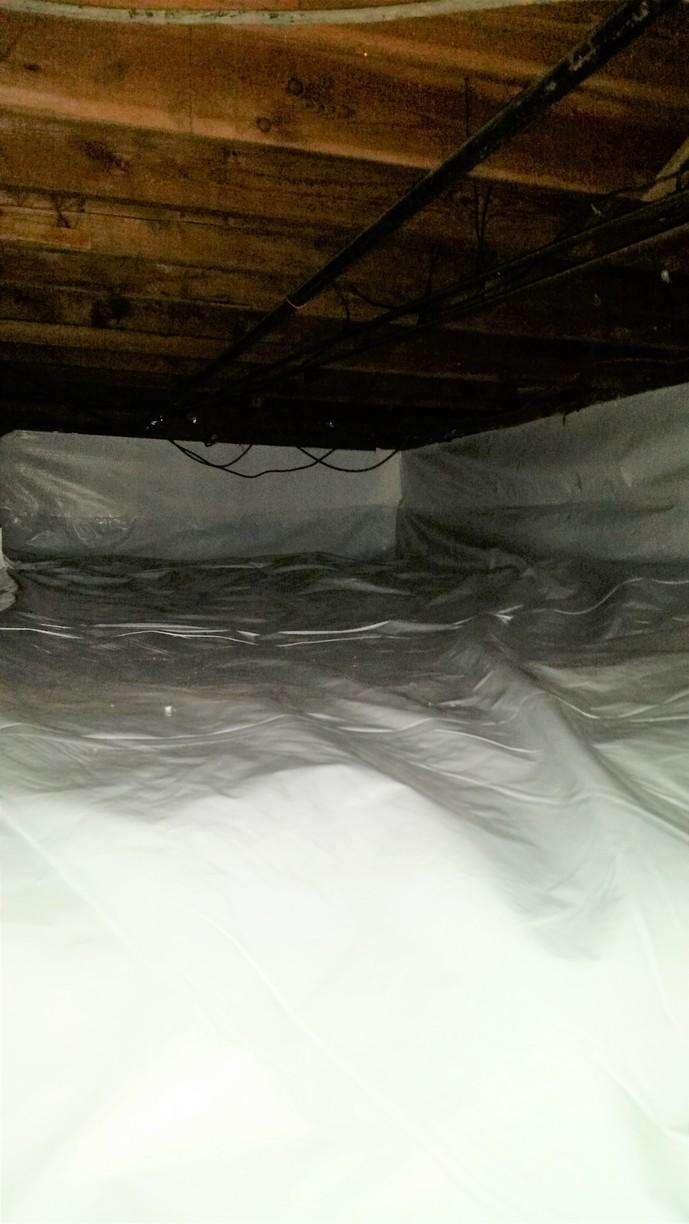 CleanSpace allows for the crawlspace to become extra storage room.