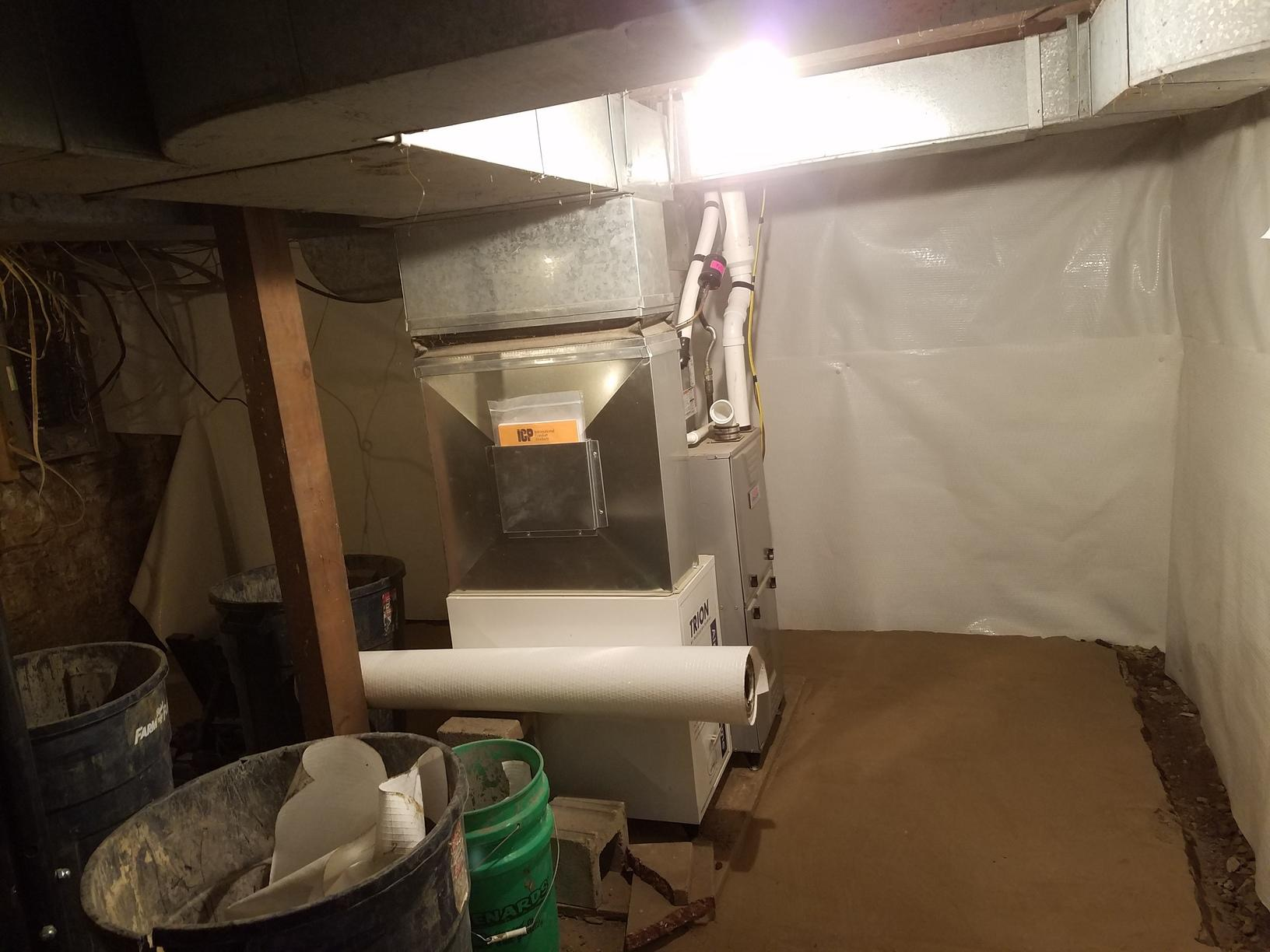 Progress photo of CleanSpace System install
