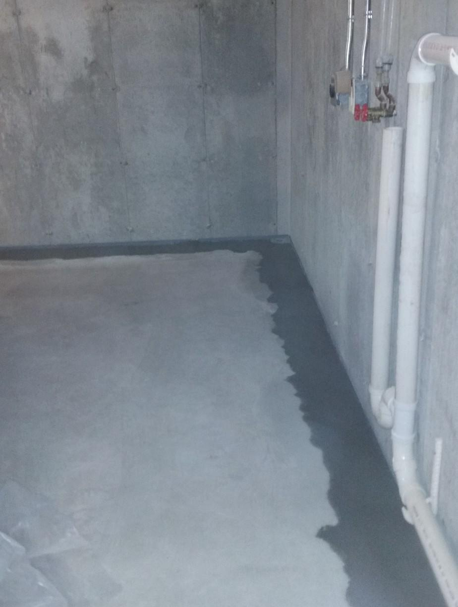 WaterGuard System goes around the perimeter to divert water away and direct it to the sump sump