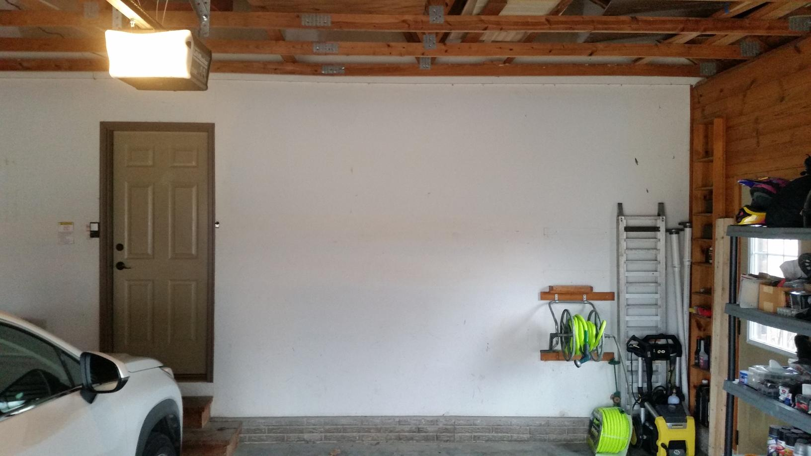 GArage wall before the Radon Mitigation System is installed