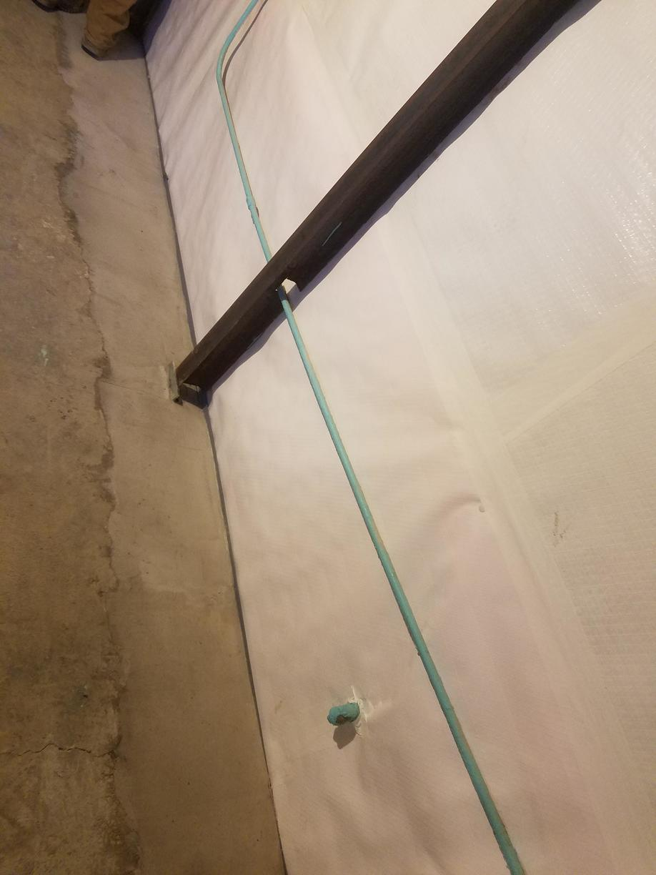 Getting a full water guard perimeter system will make sure your basement stays dry.