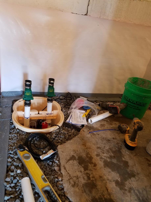 TripleSafe sump pump instillation