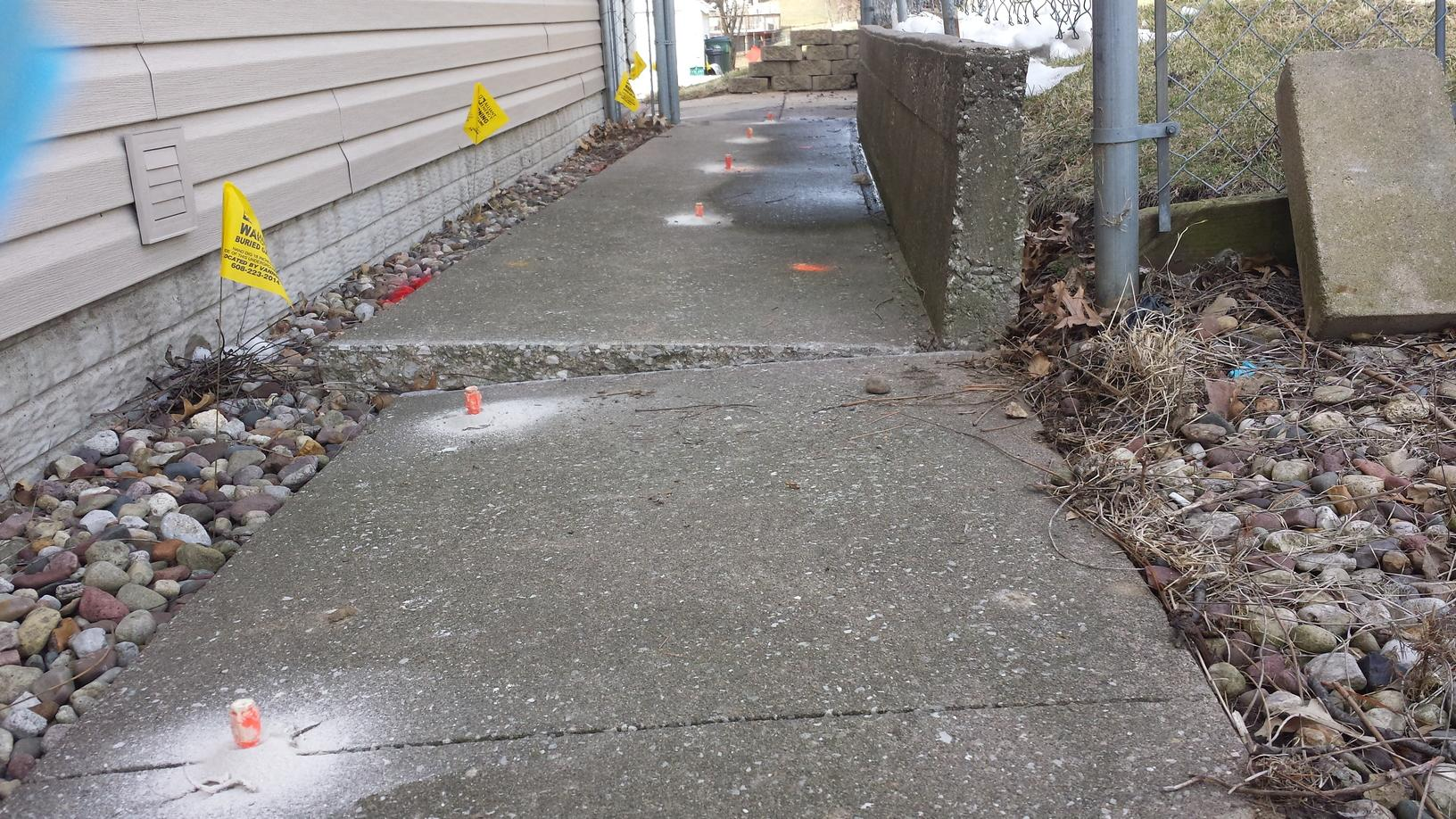 Ports in the sidewalk for the PolyLevel
