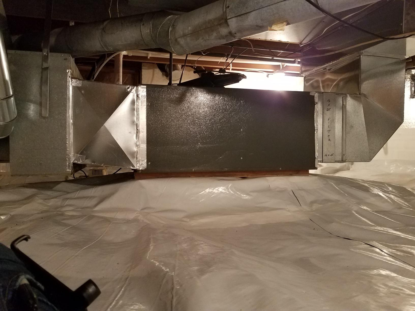 CleanSpace is a technology that is used to help with keeping your crawlspace dry.