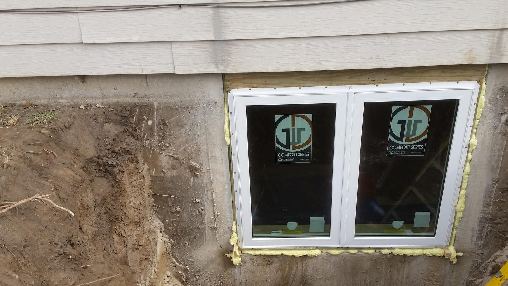 The new spot for the egress window will be placed.