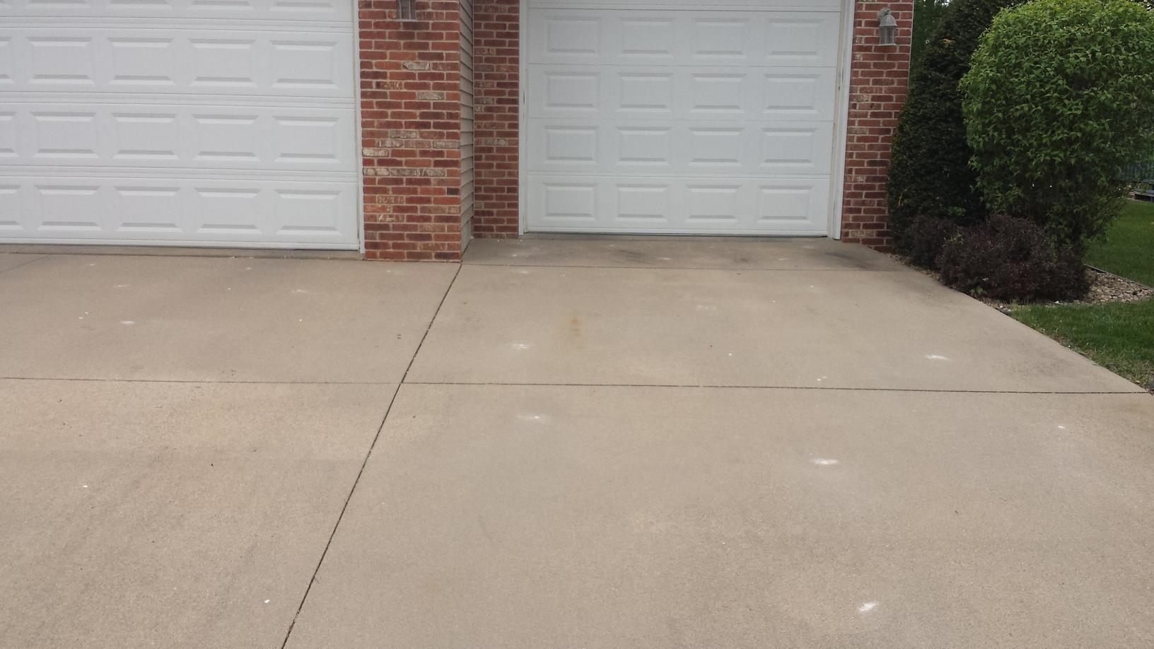 Full view of completed driveway.