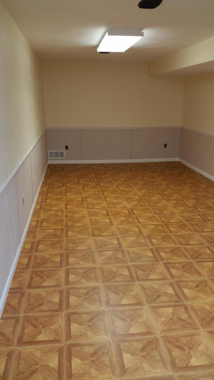 The ThermalDry flooring after it is installed.