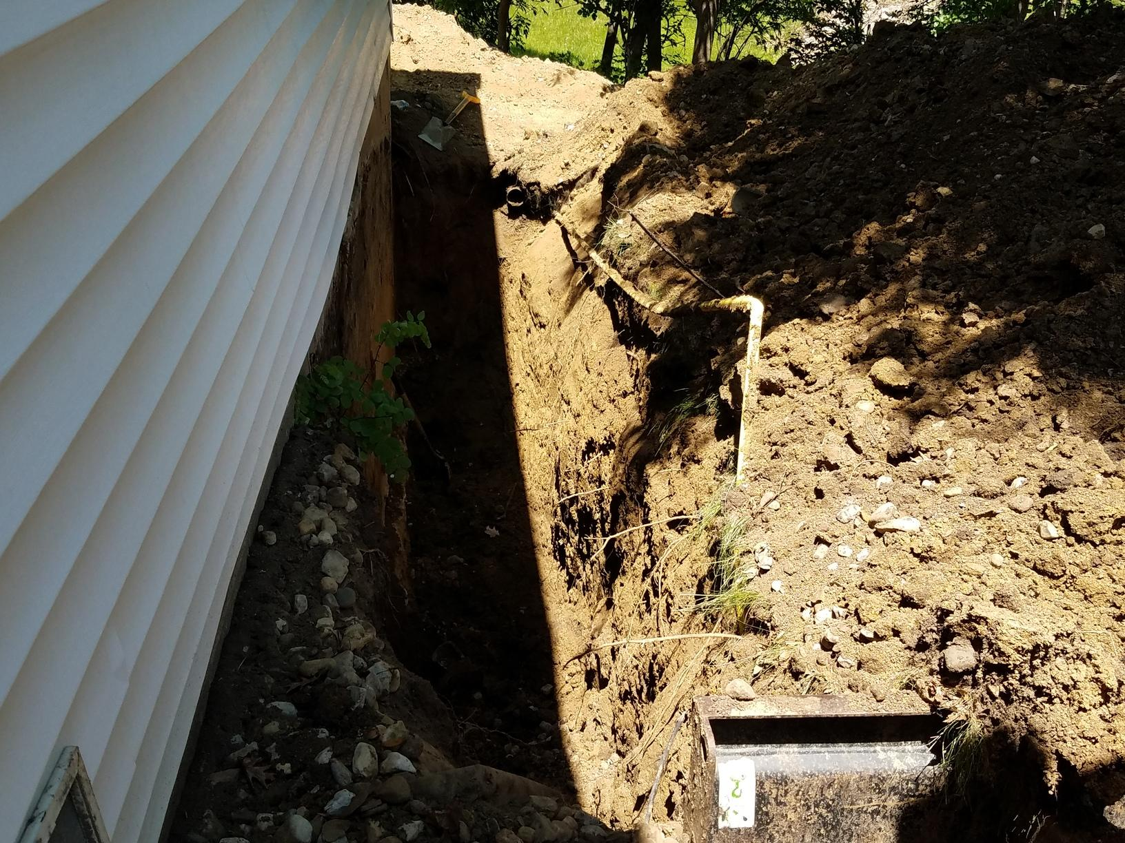 The foundation system being installed.