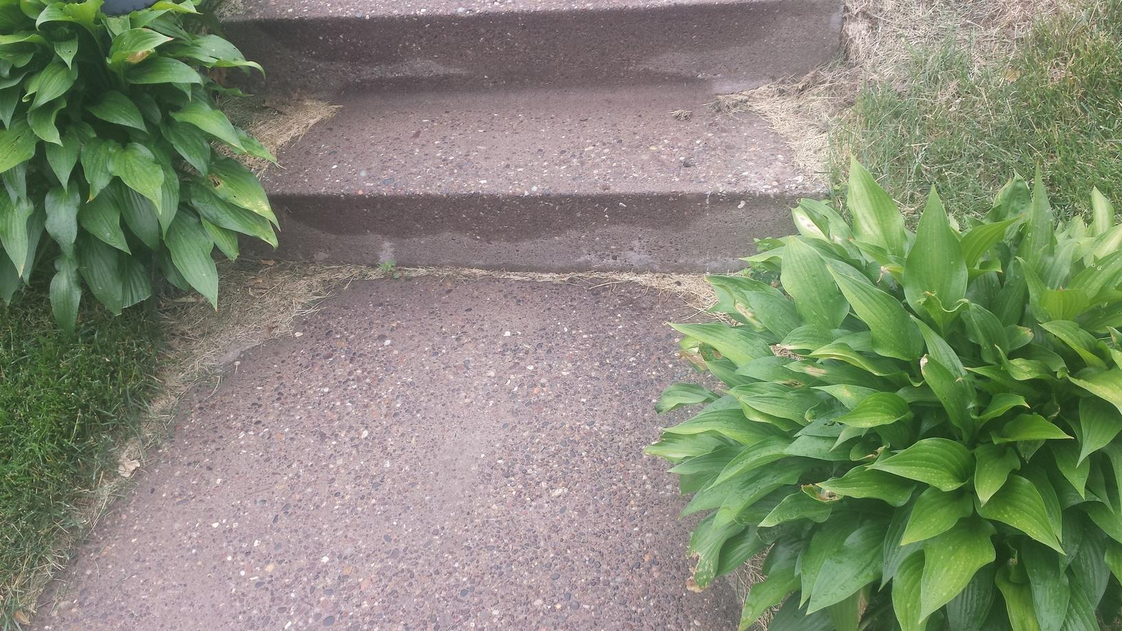 After the steps are level and safe.