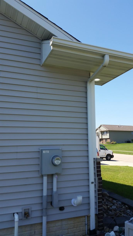 The radon mitigation system after it started.