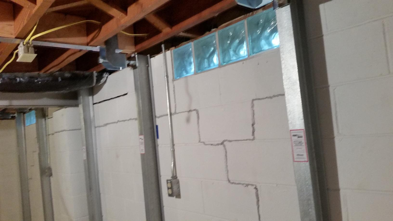 PowerBraces are used to permanently stabilize your walls.