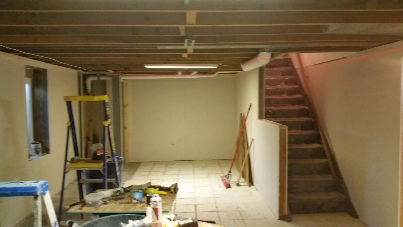 Before the basement project was started.