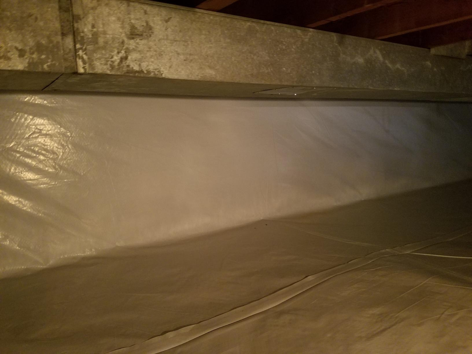 The Cleanspace seals the earth out keep the crawlspace free or moisture.