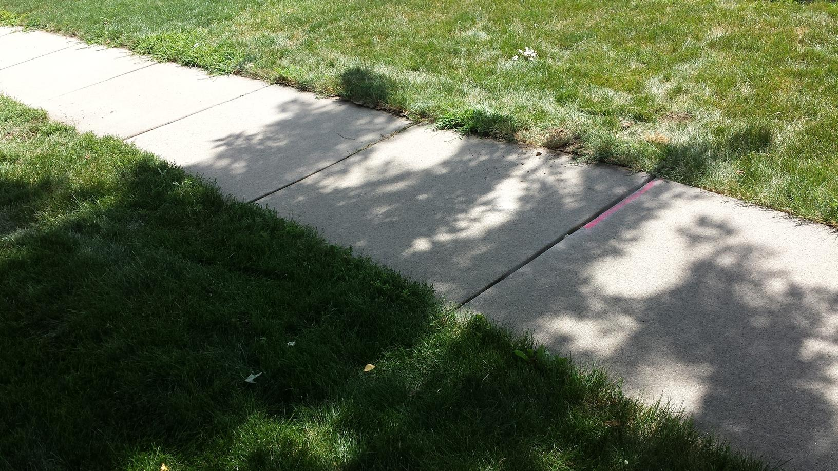 The repair will make sure the sidewalks are safe to walk on.